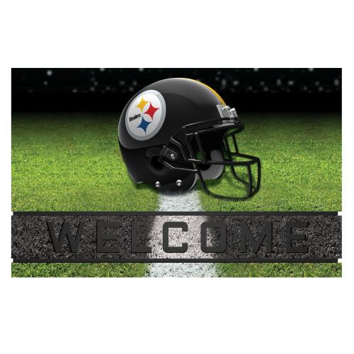 NFL Pittsburgh Steelers Heavy Duty Crumb Rubber Door Mat - IMAGE 1