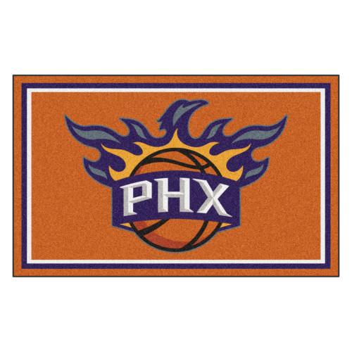 3.6' x 5.9' Orange and Blue NBA Phoenix Suns Plush Area Rug - IMAGE 1