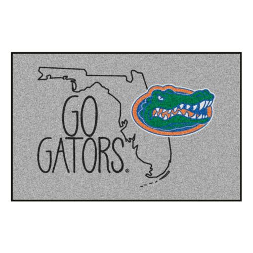 "19"" x 30"" Gray and Black NCAA University of Florida Gators Starter Rectangular Area Rug - IMAGE 1"