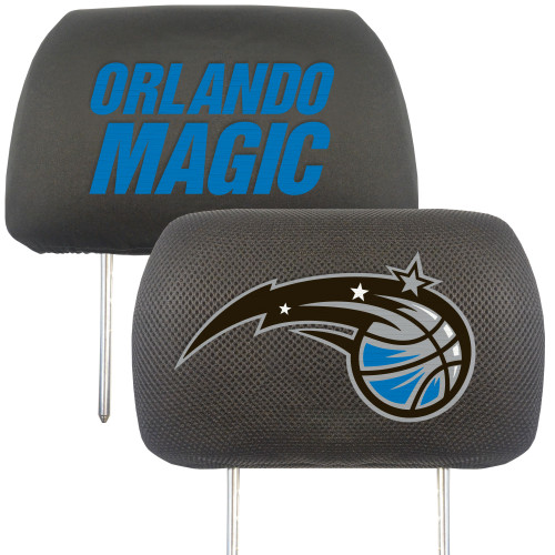 "Set of 2 NBA Orlando Magic Head Rest Cover Automotive Accessory 3"" x 10"" - IMAGE 1"