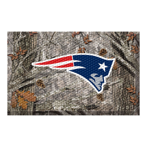 "19"" x 30"" Gray and Blue NFL New England Patriots Shoe Scraper Door Mat - IMAGE 1"