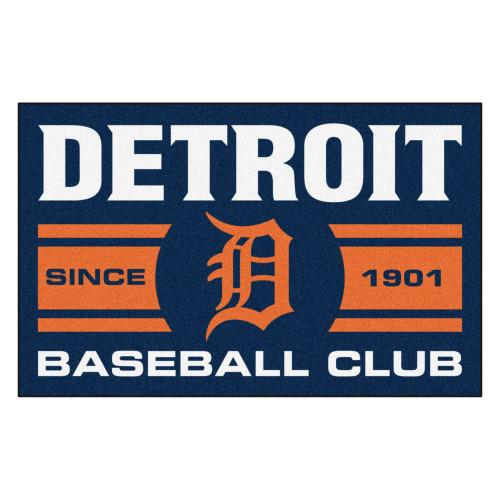 "19"" x 30"" Orange and White MLB Detroit Tigers Starter Mat Rectangular Area Rug - IMAGE 1"