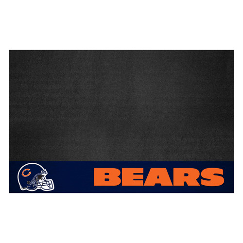 """26"""" x 42"""" Black and Orange NFL Chicago Bears Grill Mat Tailgate Accessory - IMAGE 1"""