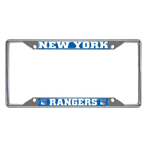 NHL New York Rangers Rectangular Chrome License Plate Frame - IMAGE 1