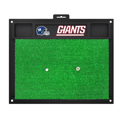 """20"""" x 17"""" Black and Green NFL New York """"Giants"""" Golf Hitting Mat Practice Accessory - IMAGE 1"""