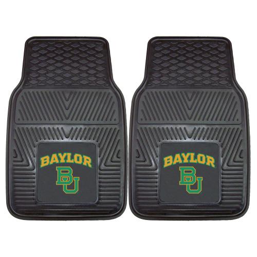 "Set of 2 Black NCAA Baylor University Bears Car Mats 17"" x 27"" - IMAGE 1"