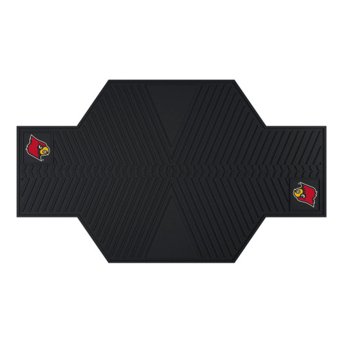 """42"""" x 82.5"""" Black and Red NCAA University of Louisville Cardinals Motorcycle Mat Accessory - IMAGE 1"""