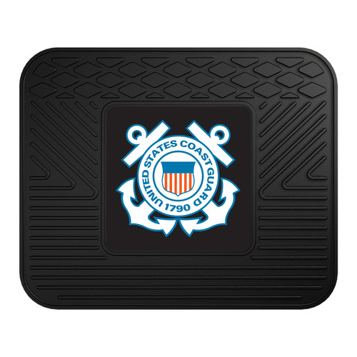 "14"" x 17"" Black and Blue NBA U.S. Coast Guard Heavy Duty Rear Car Seat Utility Mat - IMAGE 1"