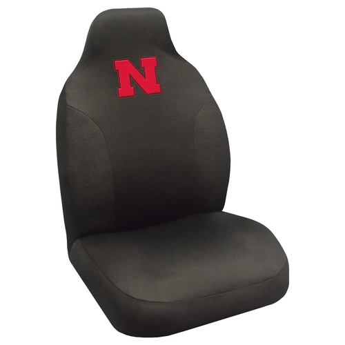 "20"" x 48"" Black and Red NCAA University of Nebraska Blackshirts Seat Cover Automotive Accessory - IMAGE 1"