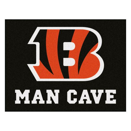 "33.75"" x 42.5"" Black and Red NFL Cincinnati Bengals ""Man Cave"" All-Star Door Mat - IMAGE 1"