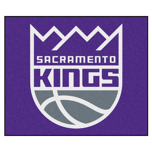 "59.5"" x 71"" Purple and Gray NBA Sacramento Kings Rectangular Tailgater Mat Outdoor Area Rug - IMAGE 1"