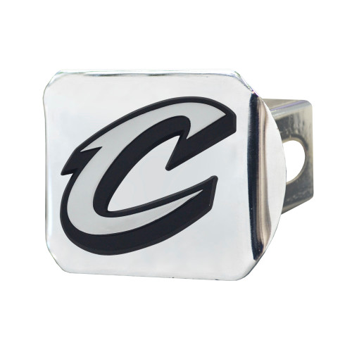 """4.5"""" Silver and Black NBA Cleveland Cavaliers Hitch Cover Automotive Accessory - IMAGE 1"""