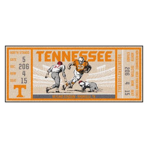 "30"" x 72"" Orange NCAA University of Tennessee Volunteers Ticket Non-Skid Mat Area Rug Runner - IMAGE 1"