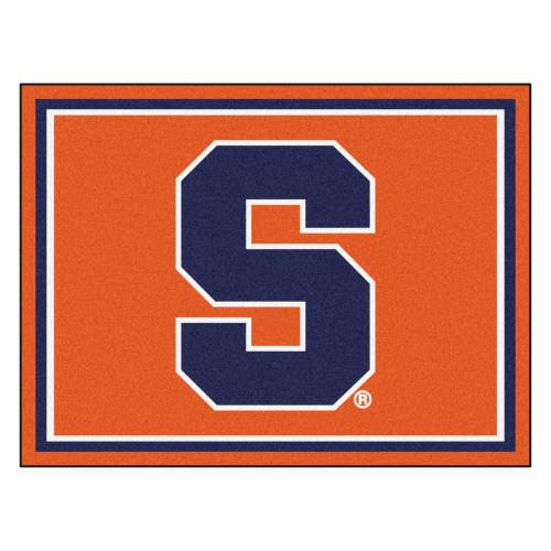 8' x 10' Orange and Navy Blue NCAA Syracuse University Plush Non-Skid Area Rug - IMAGE 1