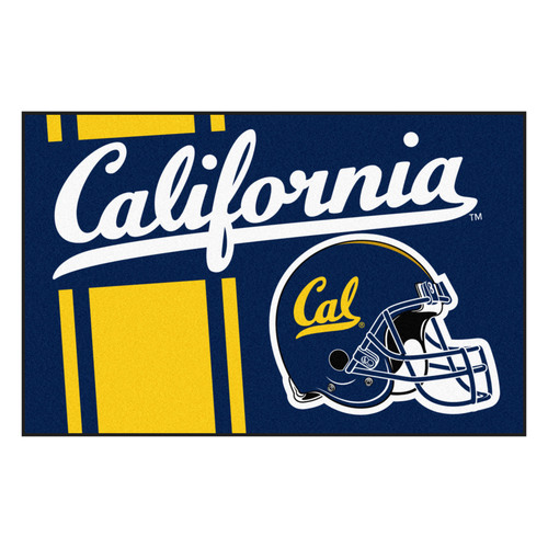 "19"" x 30"" Gold and White NCAA Berkeley Bears Starter Mat Rectangular Area Rug - IMAGE 1"