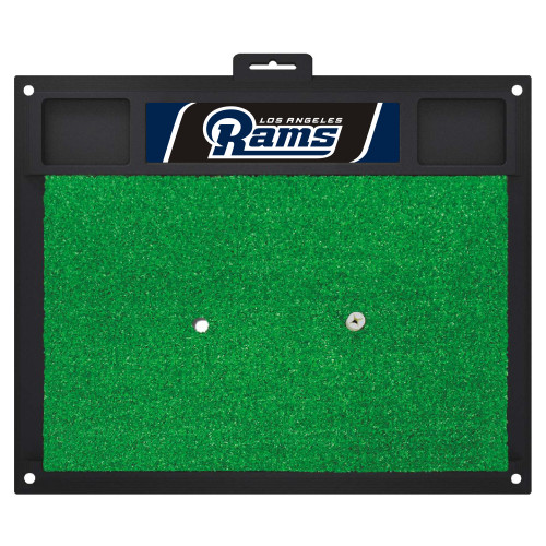"""20"""" x 17"""" Green and Black NFL Los Angeles Rams Golf Hitting Mat - IMAGE 1"""