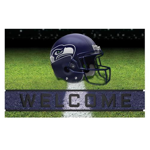 NFL Seattle Seahawks Heavy Duty Crumb Rubber Door Mat - IMAGE 1