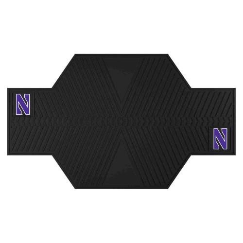 "42"" x 82.5"" Black and Purple NCAA Northwestern University Demons Motorcycle Mat Accessory - IMAGE 1"