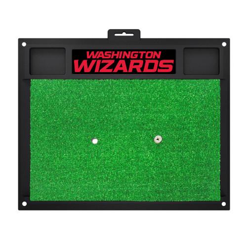 "17"" x 20"" Green NBA Washington Wizards Golf Hitting Mat Practice Accessory - IMAGE 1"
