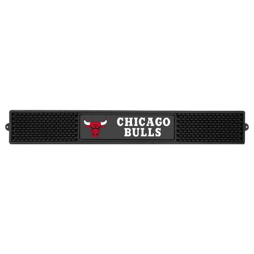 "3.25"" x 24"" Black and White NBA Chicago Bulls Drink Mat - IMAGE 1"