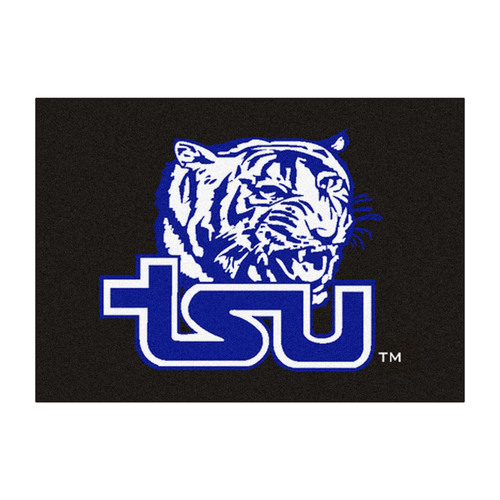 """33.75"""" x 42.5"""" Black and Blue NCAA Tennessee State University Tigers All Star Non-Skid Mat - IMAGE 1"""