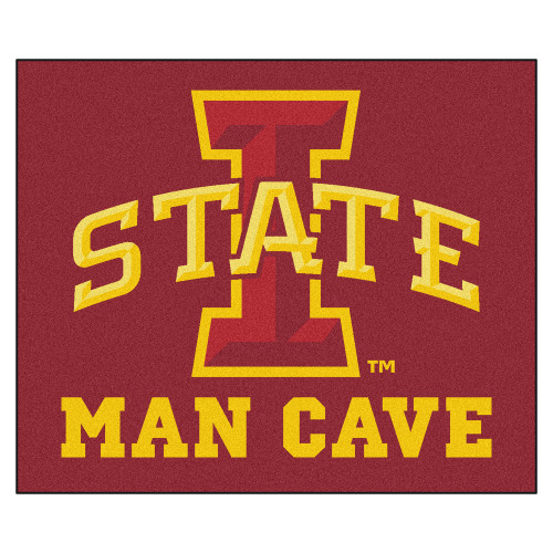 """59.5"""" x 71"""" Red NCAA Iowa State University Cyclones Man Cave Tailgater Mat Outdoor Area Rug - IMAGE 1"""