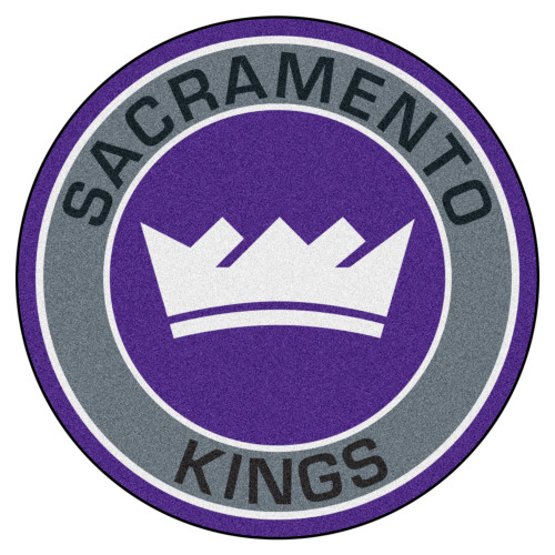 "27"" Gray and Purple NBA Sacramento Kings Rounded Door Mat - IMAGE 1"