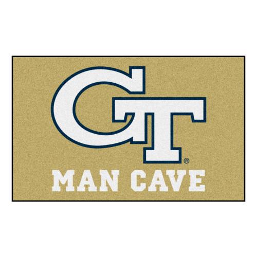 "59.5"" x 94.5"" Beige NCAA Georgia Tech Yellow Jackets, Ramblin' Wreck Outdoor Tailgater Area Rug - IMAGE 1"
