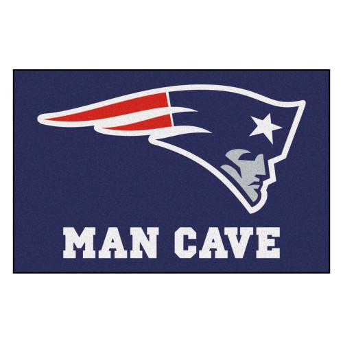 "19"" x 30"" Blue NFL New England Patriots Man Cave Starter Rectangular Area Rug - IMAGE 1"