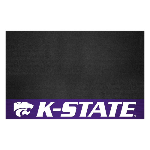 """26"""" x 42"""" Black and Purple Contemporary NCAA Wildcats Grill Mat - IMAGE 1"""