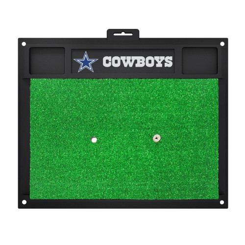 """20"""" x 17"""" Black and Green NFL Dallas """"Cowboys"""" Golf Hitting Mat Practice Accessory - IMAGE 1"""