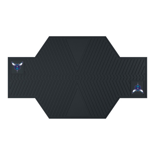 "42"" x 82.5"" Black NBA Charlotte Hornets Motorcycle Parking Mat - IMAGE 1"