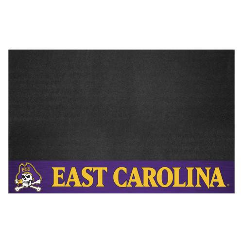"26"" x 42"" Black and Purple NCAA East Carolina University Pirates Grill Mat Tailgate Accessory - IMAGE 1"