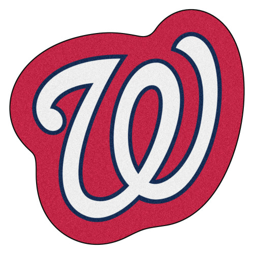 "30"" x 30"" Red and White MLB Washington Nationals Mascot Novelty Logo Door Mat - IMAGE 1"