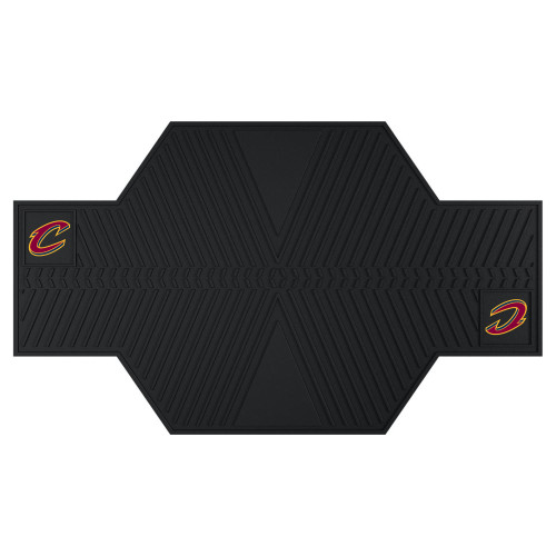 """42"""" x 82.5"""" Black NBA Cleveland Cavaliers Motorcycle Parking Mat - IMAGE 1"""