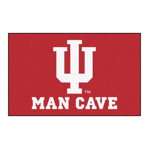 "59.5"" x 94.5"" Red NCAA Indiana University Hoosiers Man Cave Ulti-Mat Rectangular Area Rug - IMAGE 1"