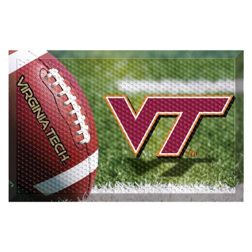 """Red and Green NCAA Virginia Tech Hokies Shoe Scraper Doormat 19"""" x 30"""" - IMAGE 1"""