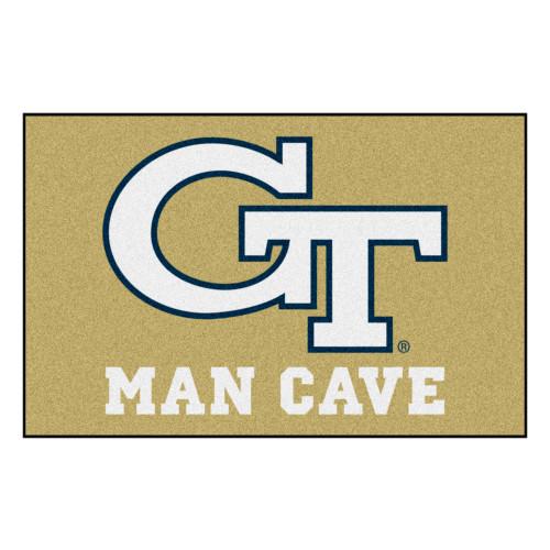 """19"""" x 30"""" Beige NCAA Georgia Tech Yellow Jackets, Ramblin' Wreck Starter Door Mat - IMAGE 1"""