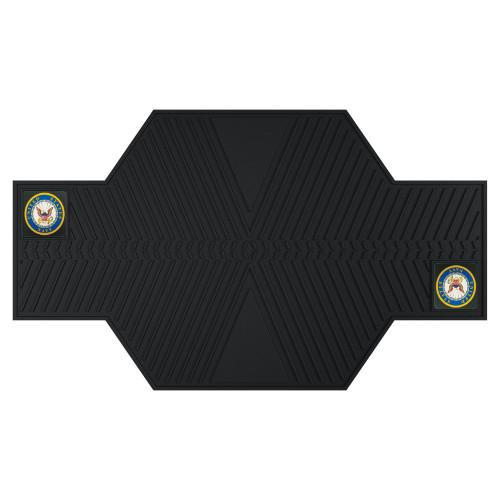 "42"" x 82.5"" Black NBA U.S. Navy Parking Mat Motorcycle Accessory - IMAGE 1"