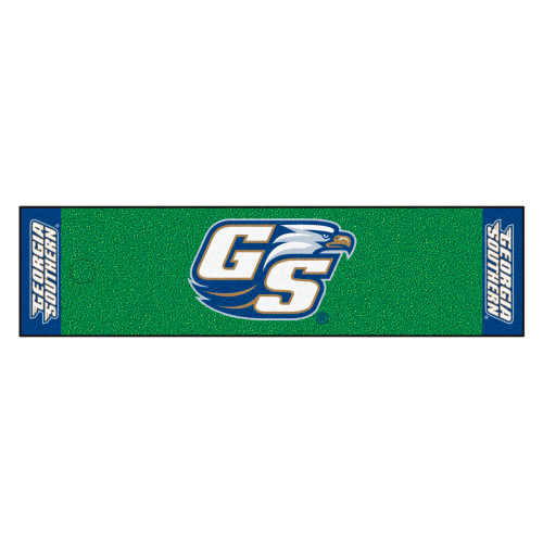 """18"""" x 72"""" Green and Blue NCAA Georgia Southern University Eagles Mat Golf Accessory - IMAGE 1"""