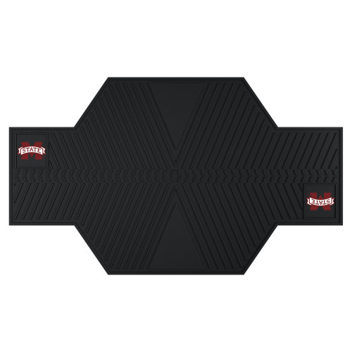 """42"""" x 82.5"""" Black NCAA Mississippi State University Bulldogs Motorcycle Parking Mat Accessory - IMAGE 1"""