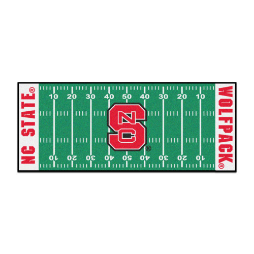 """30"""" x 72"""" Green and Red NCAA North Carolina State University Wolfpack Football Mat Area Rug Runner - IMAGE 1"""