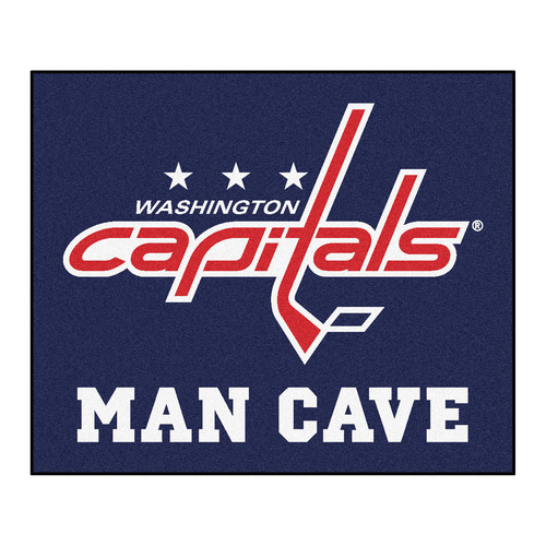 "59.5"" x 71"" NHL Washington Capitals Outdoor Tailgater Area Rug - IMAGE 1"