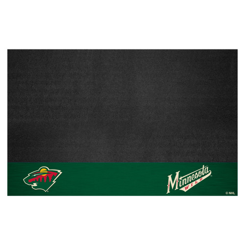 """26"""" x 42"""" Green and Black NHL Minnesota Wild Grill Outdoor Tailgate Mat - IMAGE 1"""