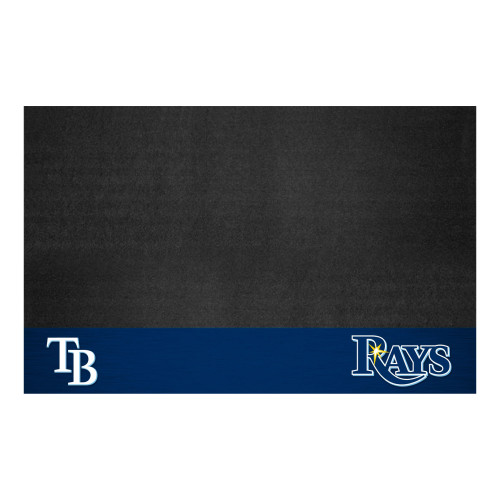 "26"" x 42"" Black and Blue MLB Tampa Bay Rays Grill Mat Tailgate Accessory - IMAGE 1"