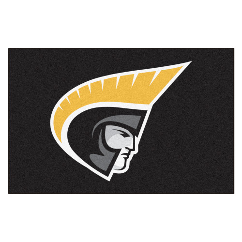 "19"" x 30"" Black and Gold NCAA Trojans Starter Mat Rectangular Area Rug - IMAGE 1"