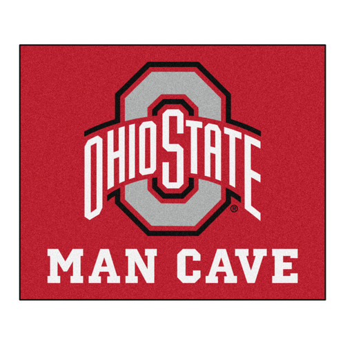 4.9' x 5.9' Red NCAA Ohio State University Buckeyes Man Cave Tailgater Rectangular Area Rug - IMAGE 1