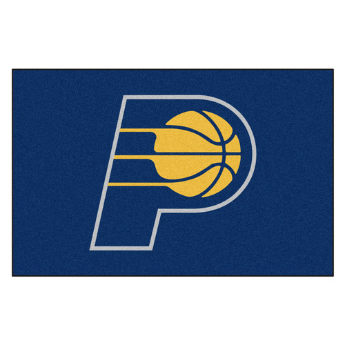"19"" x 30"" Blue and Yellow NBA Indiana Pacers Starter Door Mat - IMAGE 1"