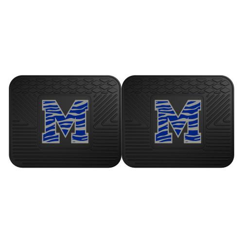 "Set of 2 Black and Blue NCAA University of Memphis Tigers Car Utility Mats 14"" x 17"" - IMAGE 1"