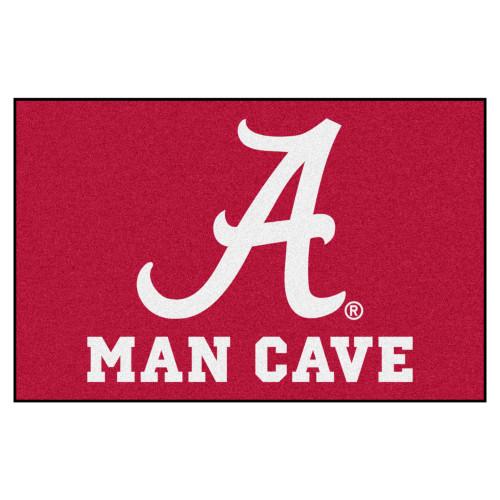 "19"" x 30"" Red and White NCAA University of Alabama Crimson Tide Starter Rectangular Door Mat - IMAGE 1"